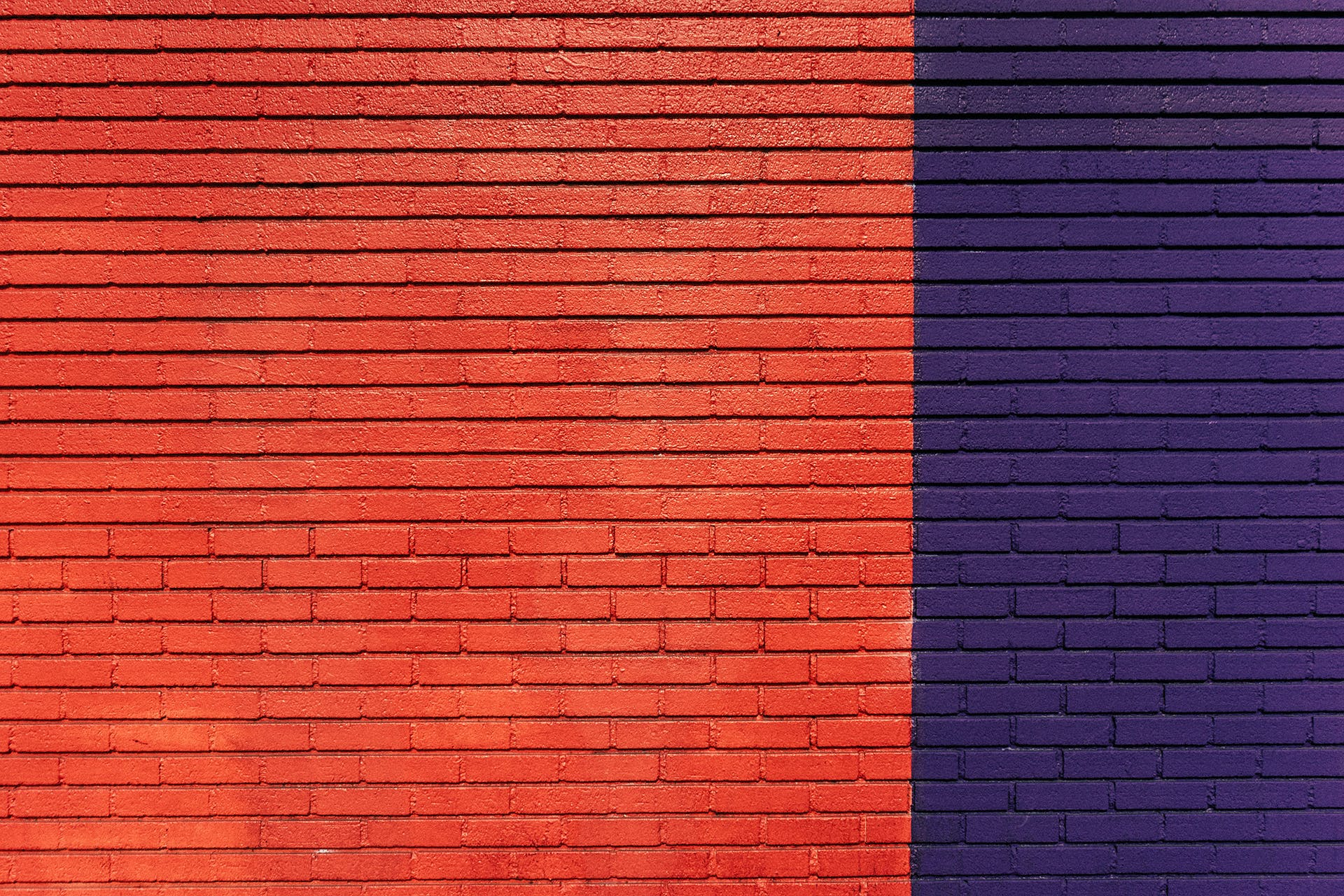 Red and Purple Concrete Wall