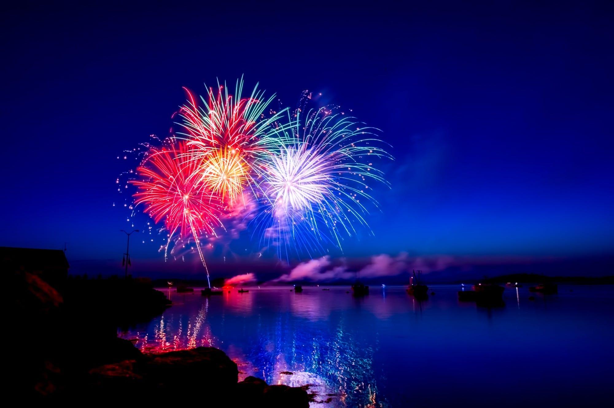 4. juli, abend, beleuchtung