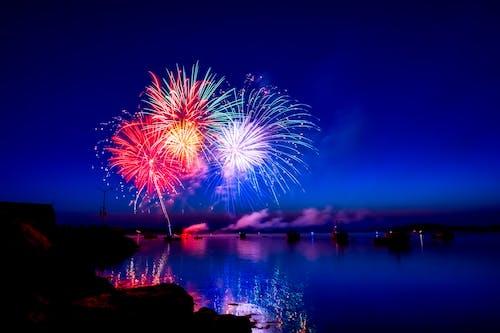 Photos gratuites de 4 juillet, baie, bateaux, brillant