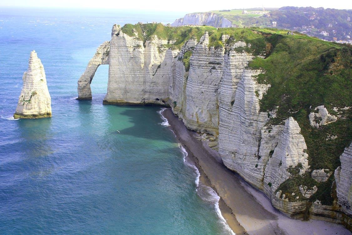 Rock Cliff Near Seashore
