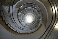 stairs, light, art