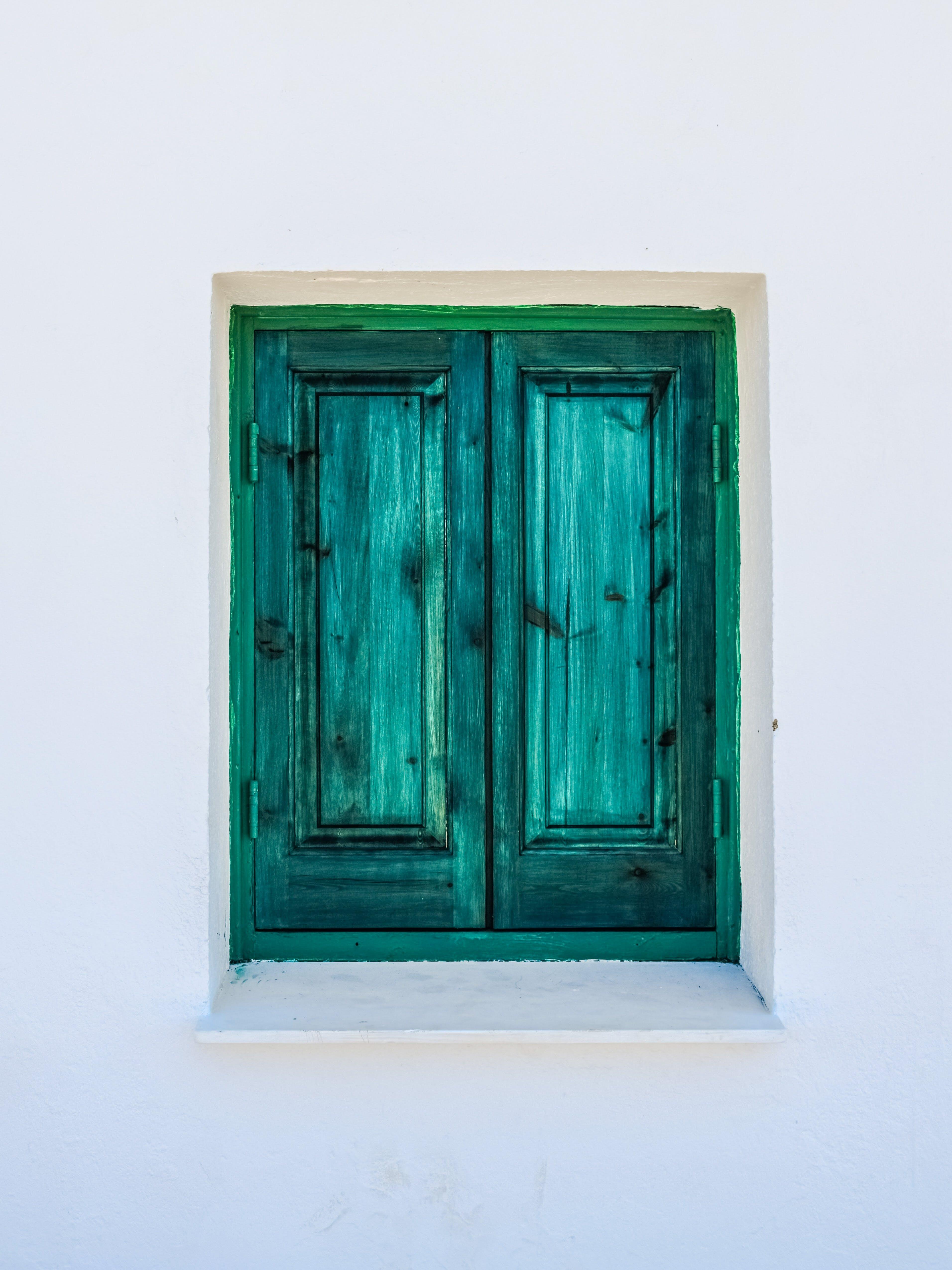 Green Wooden Window Shutter