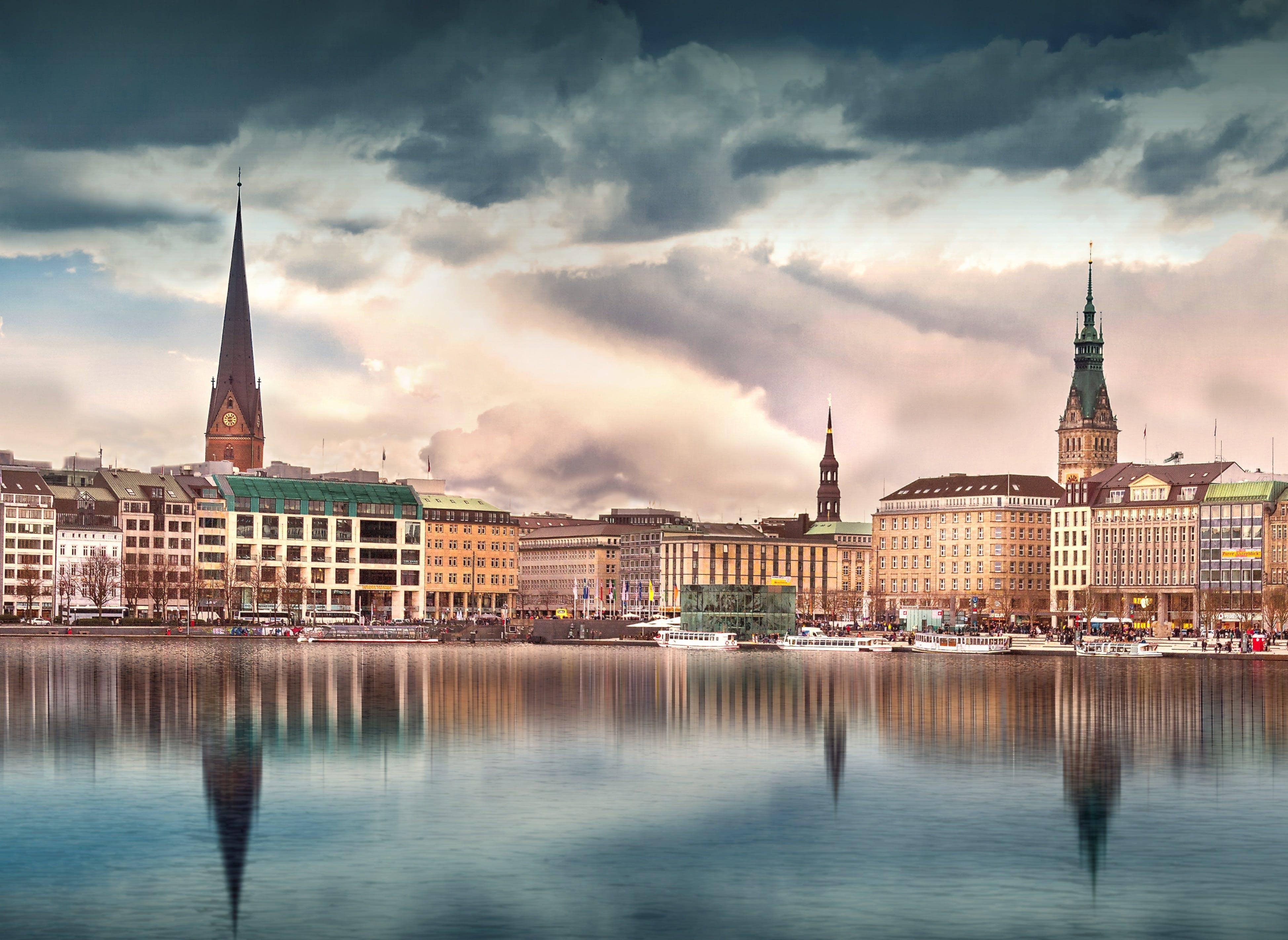 Free stock photo of city, landscape, sunset, landmark