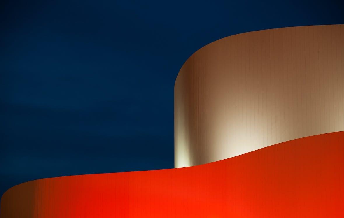 абстрактний, архітектура, візерунок