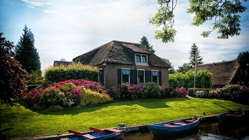 Foto profissional grátis de água, aldeia, arquitetura, árvores