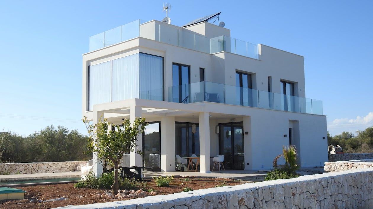 Arsitektur, awan, balkon