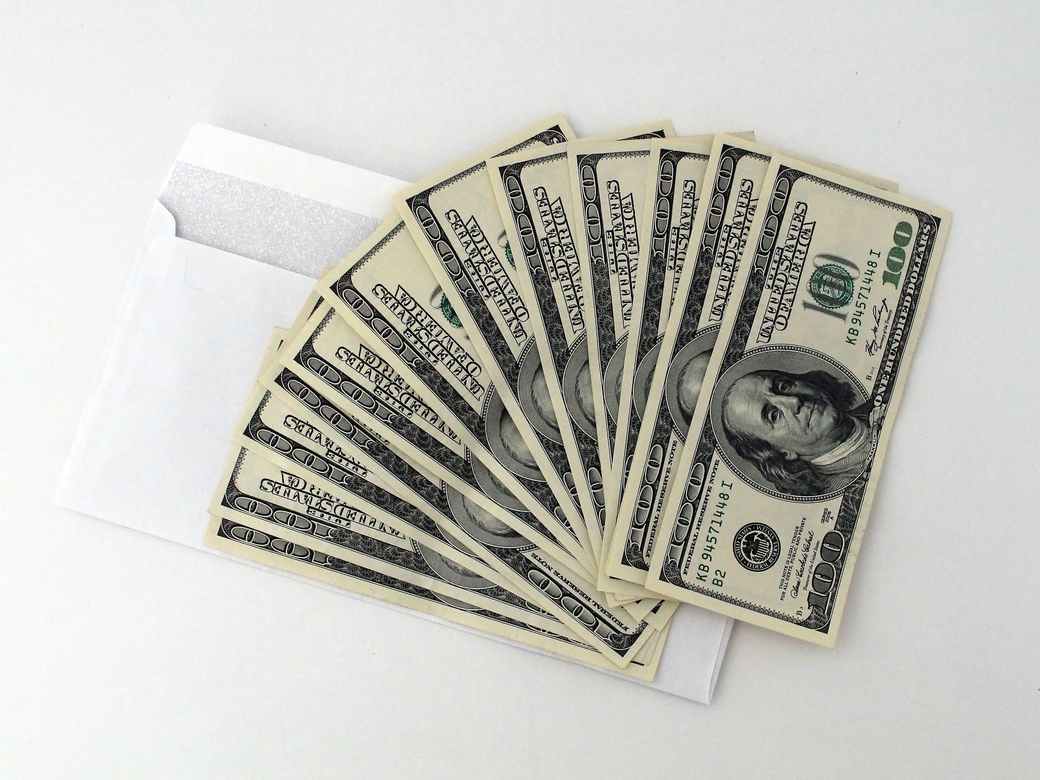 Gratis lagerfoto af Bank, bestikke, betale, dollars