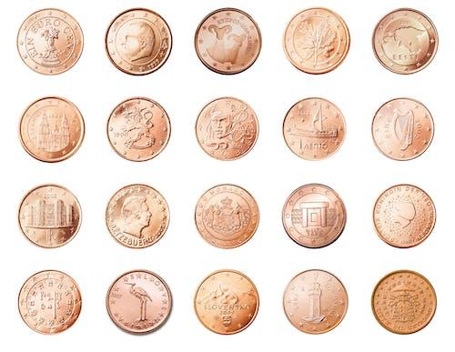 Avrupa, banka, bozuk paralar, cent içeren Ücretsiz stok fotoğraf