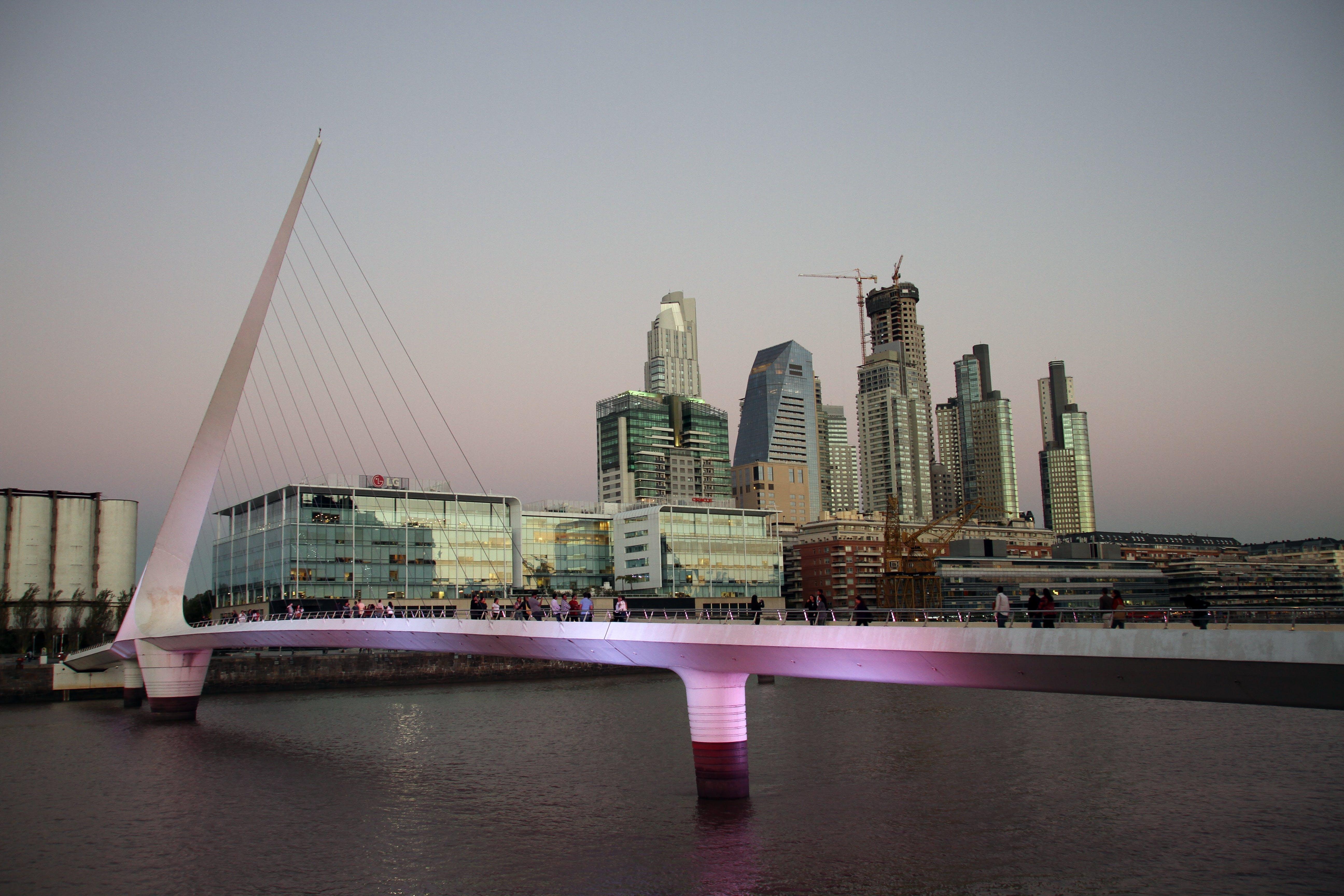 architecture, bridge, buildings