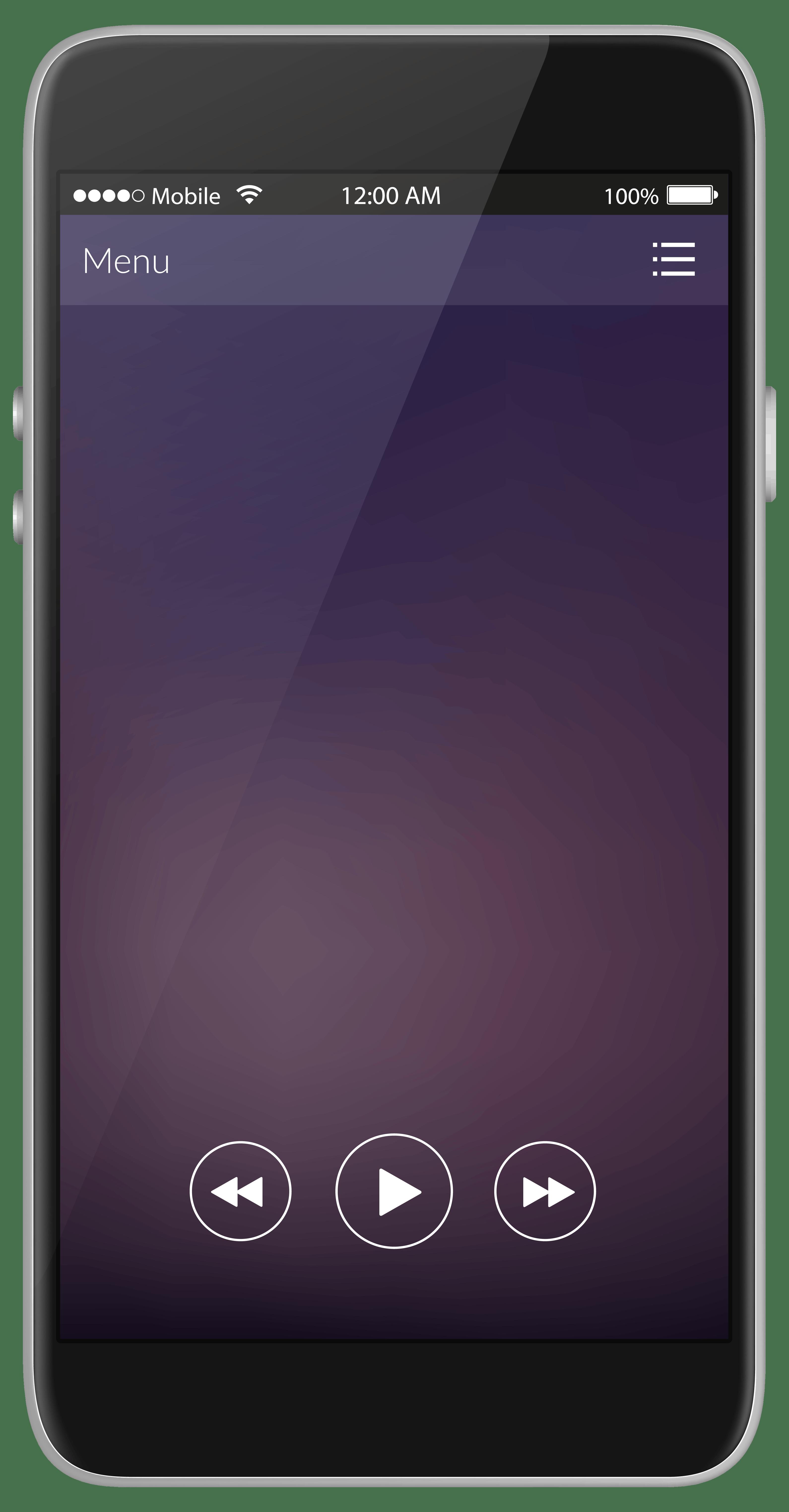 Black Android Smartphone Clip Art