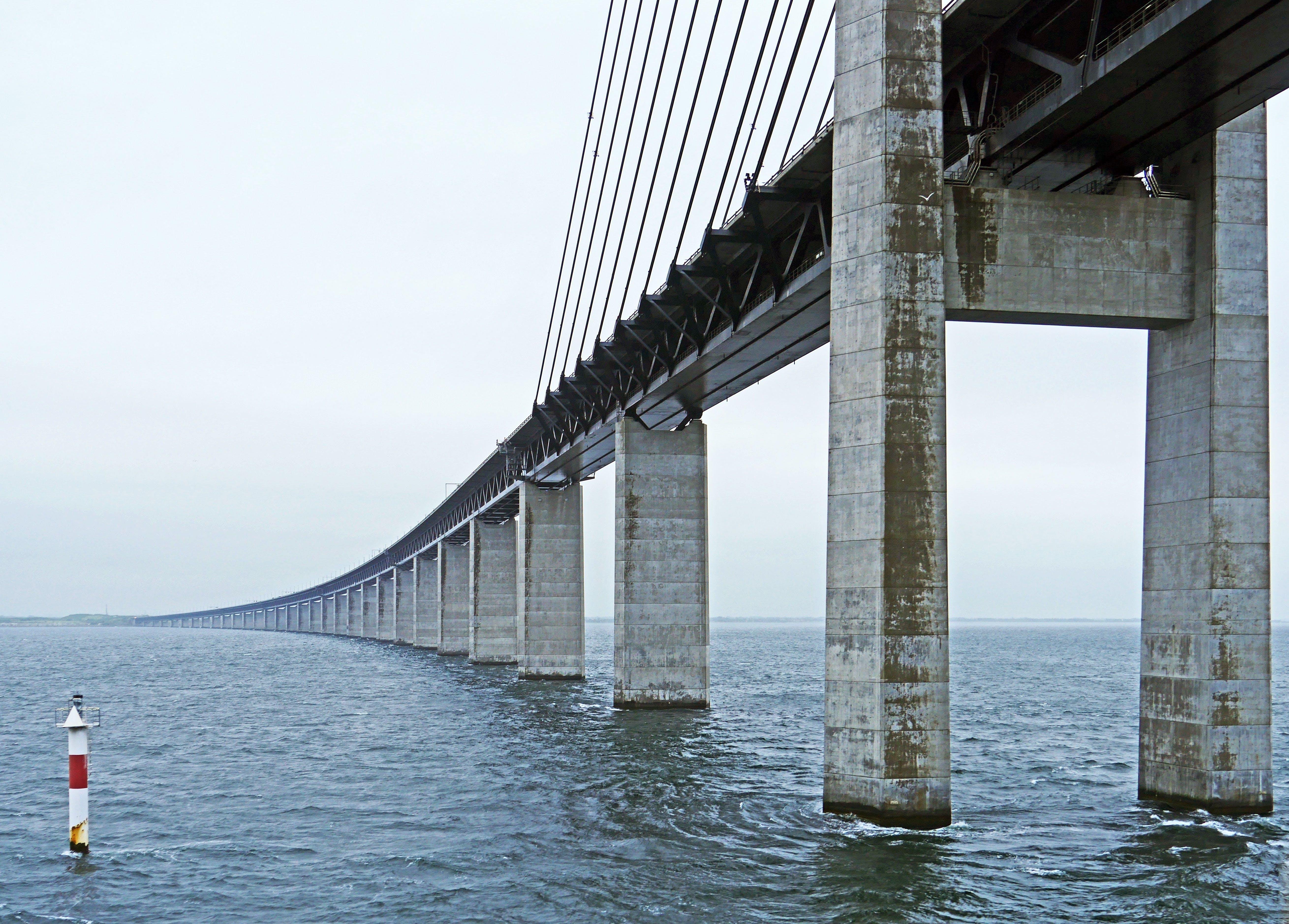 Free stock photo of scandinavia, highway, sound, railway