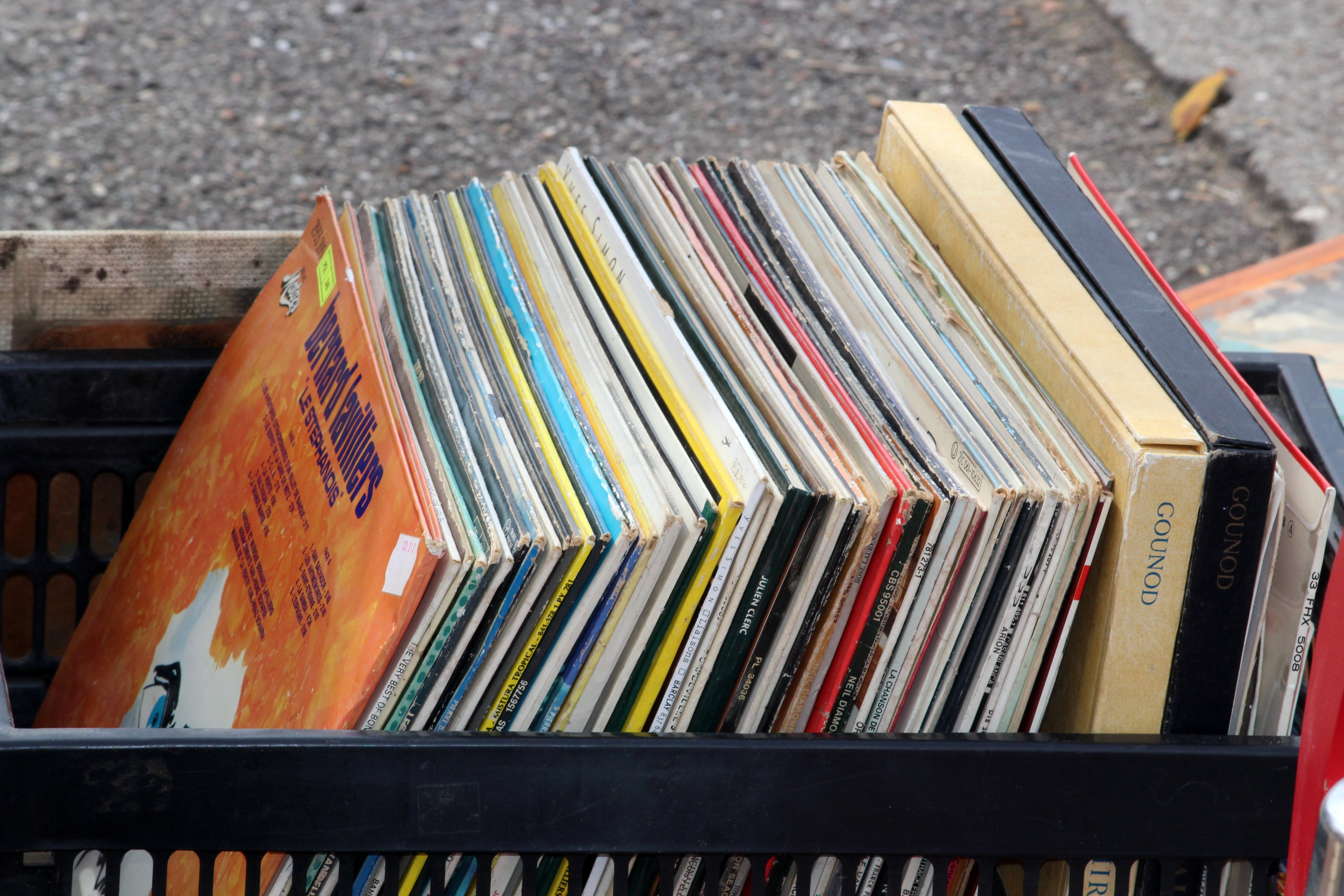 Free stock photo of music, flea market, vinyl, disk