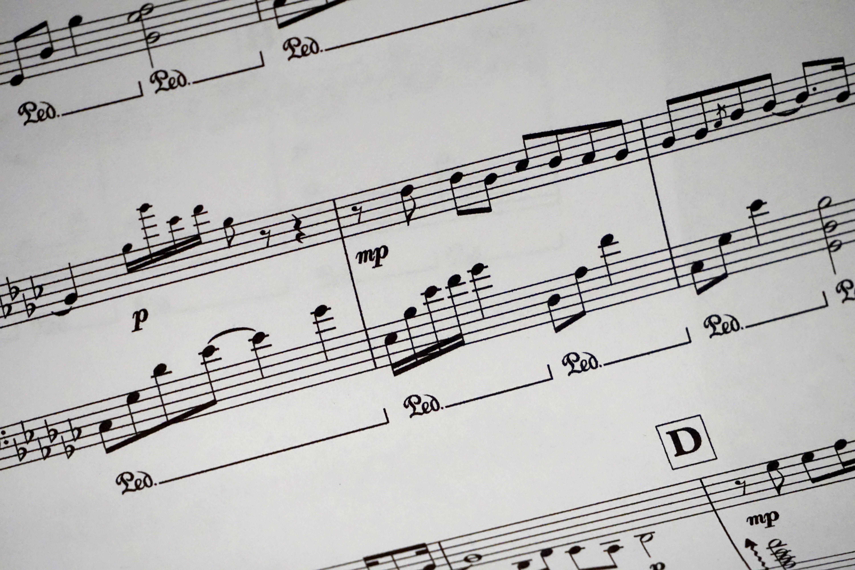 black-and-white, keys, music