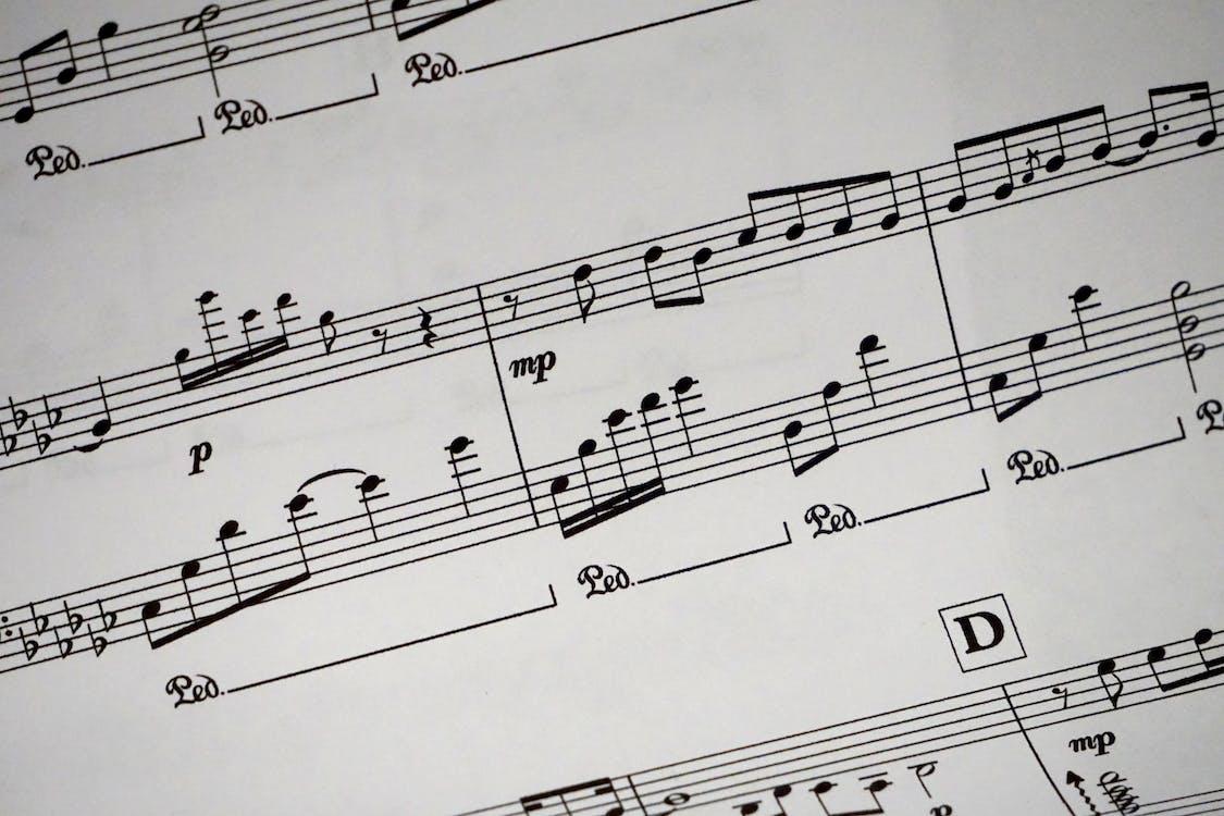 Partitions Montrant Des Notes De Musique