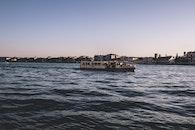 sea, city, water