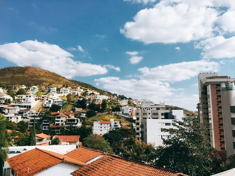 Free stock photo of city, buildings, hill, architecture