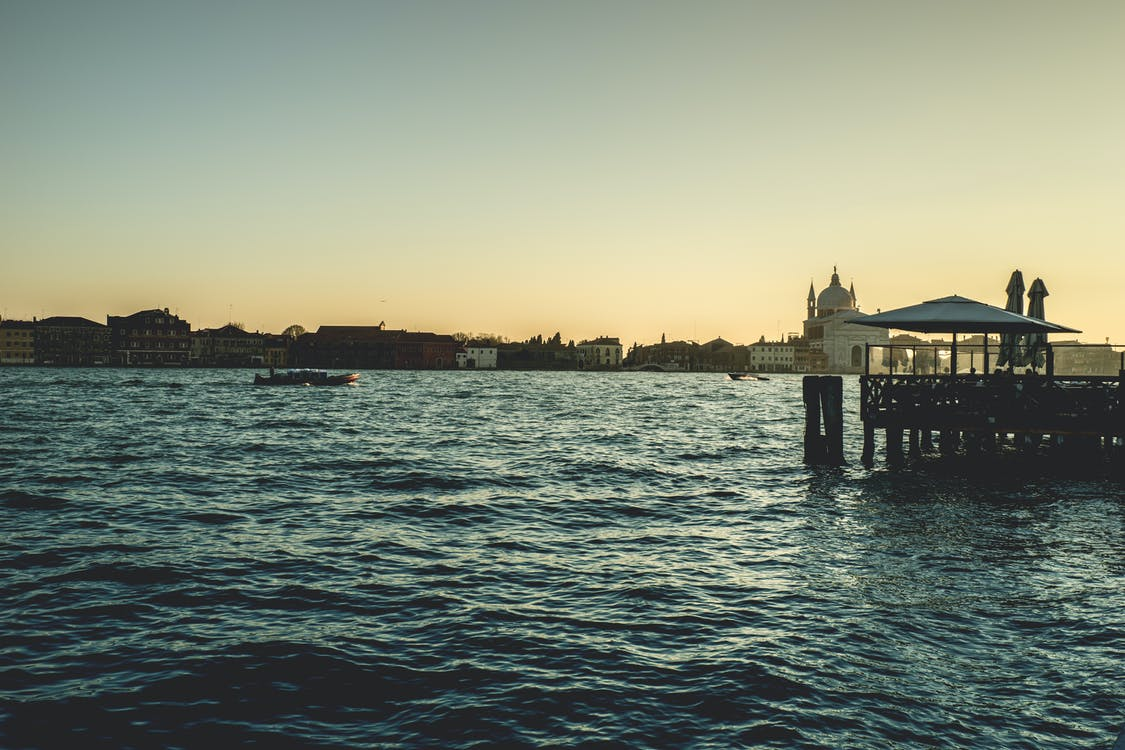 acqua, alba, architettura