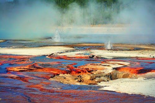 Δωρεάν στοκ φωτογραφιών με ατμός, γκέιζερ, εθνικό πάρκο yellowstone, ζεστές πισίνες