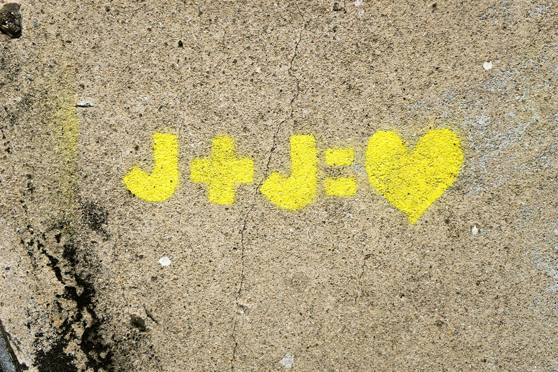 Kostnadsfri bild av hjärta, j + j, kärlek