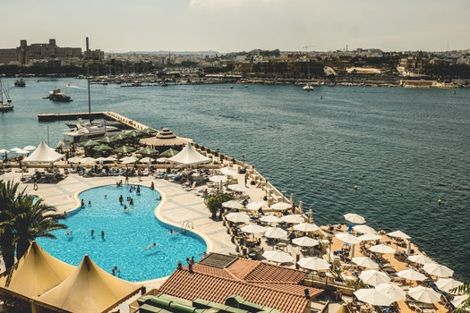Free stock photo of sea, city, sky, vacation