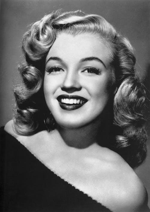 Základová fotografie zdarma na téma černobílý, herečka, Hollywood