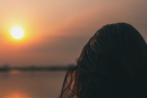 Free stock photo of brunette, evening sun, horizon