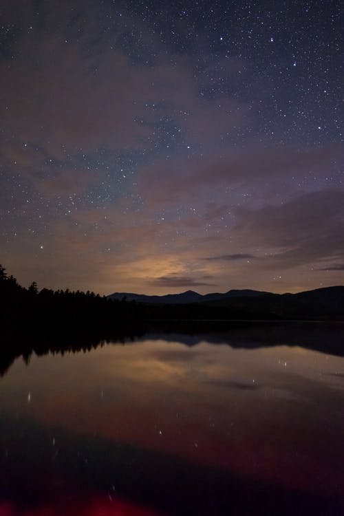 Reflection of Night Sky Photo