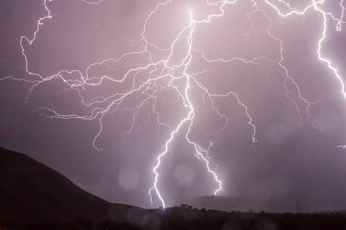 Fotobanka sbezplatnými fotkami na tému blýskanie, búrka, hrom, obloha