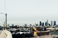city, skyline, los angeles