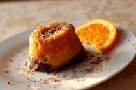 food, plate, orange