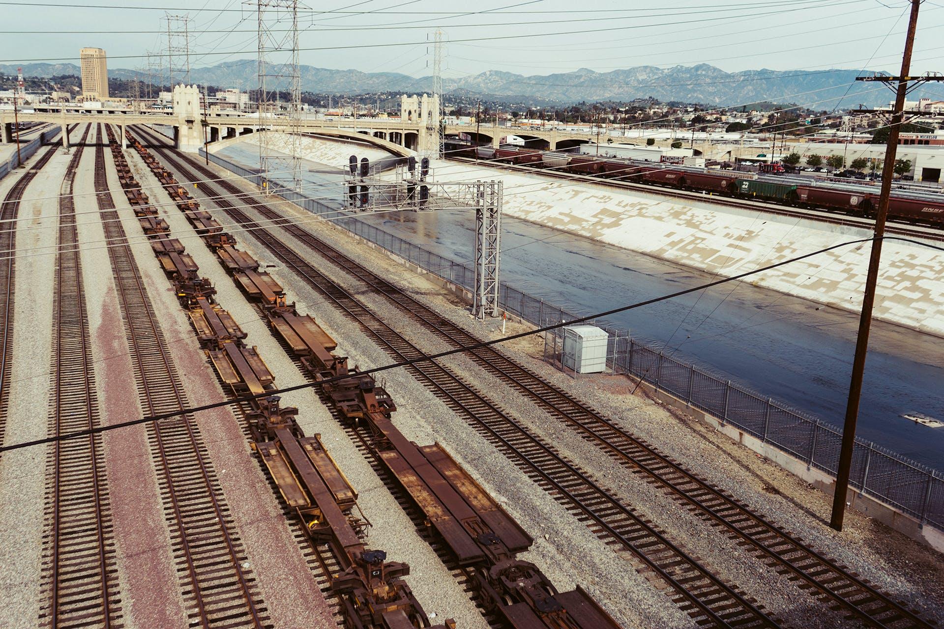 industry, rails, train
