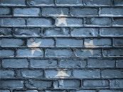 banner, bricks, wall