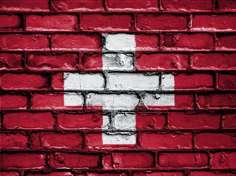 Free stock photo of banner, bricks, wall, flag
