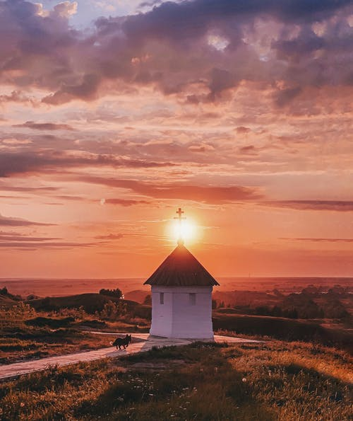 Бесплатное стоковое фото с архитектура, вечер, дом, закат