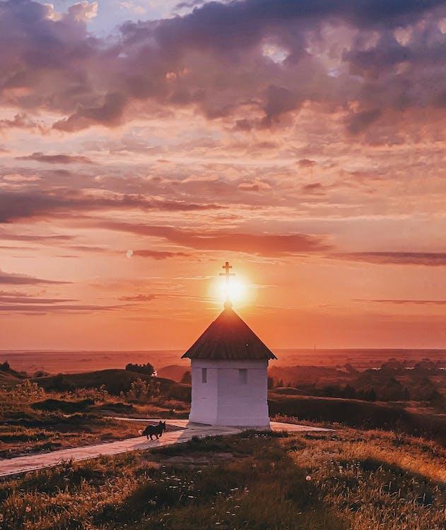 Безкоштовне стокове фото на тему «архітектура, вечір, гарний захід сонця»