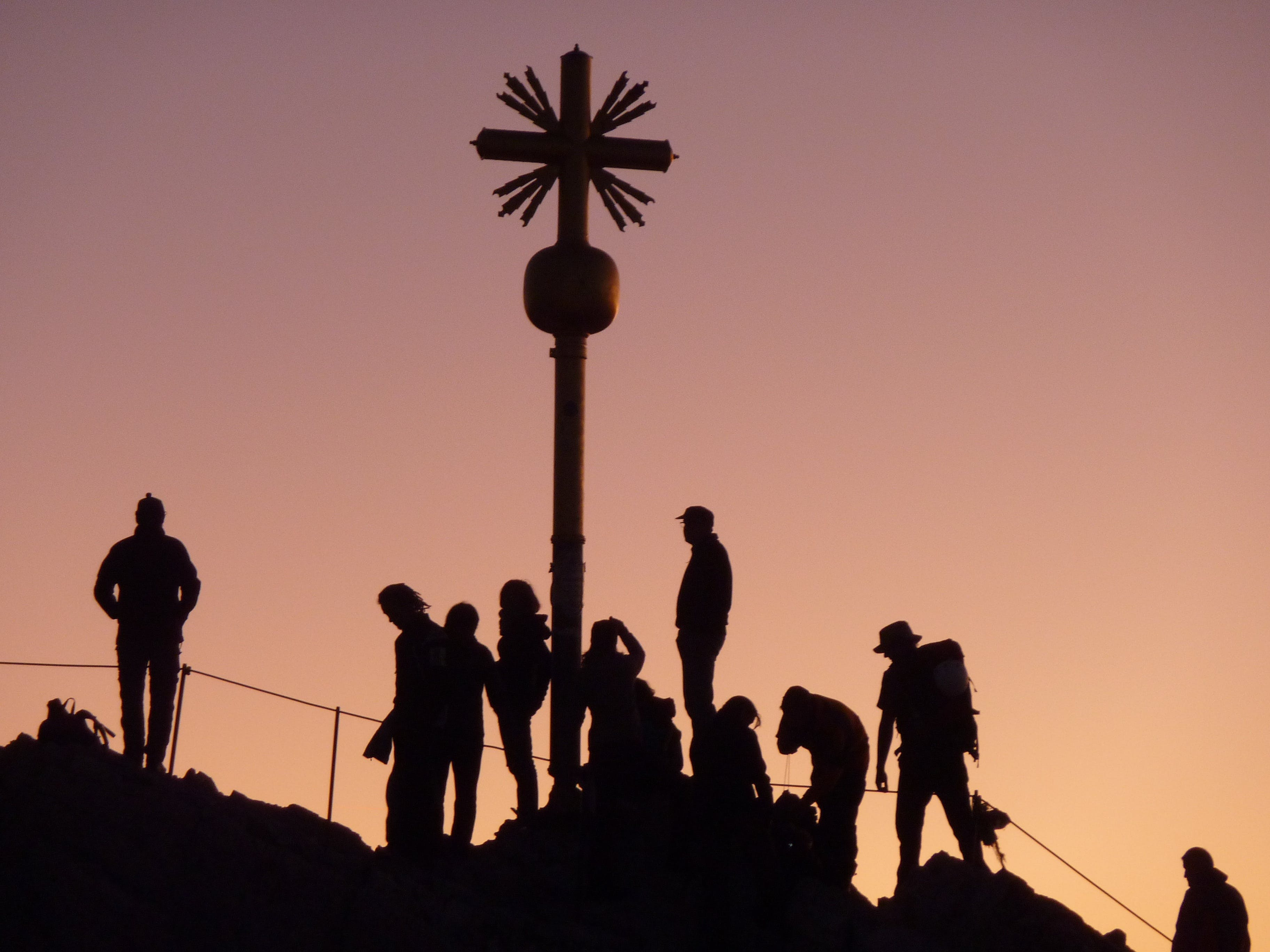 Silhouette of Group of People