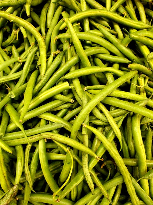 Fresh String Beans in Close Up Photography