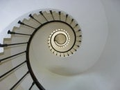 stairs, staircase, spiral staircase