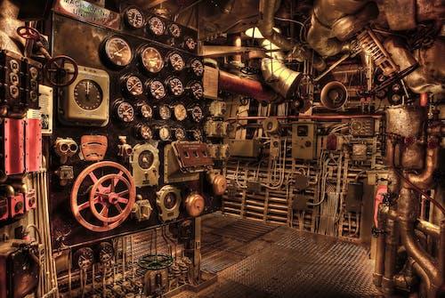 机房, 機器, 機械, 船隻 的 免费素材照片
