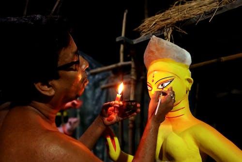 Free stock photo of bengali festival, biggest indian festival, chakshu daan