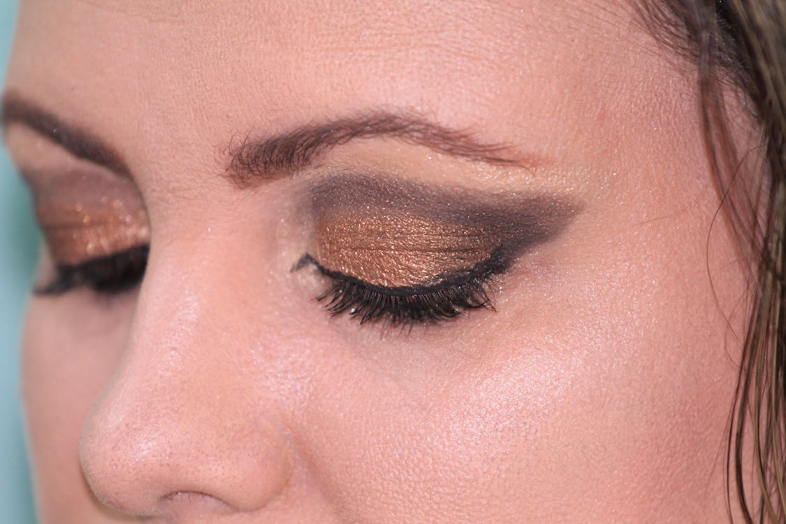 Woman Showing Eye Shadow