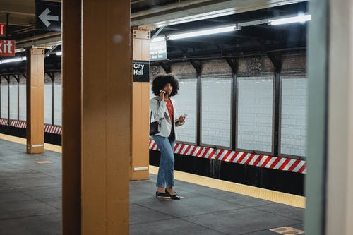 A Woman in a Subway Station