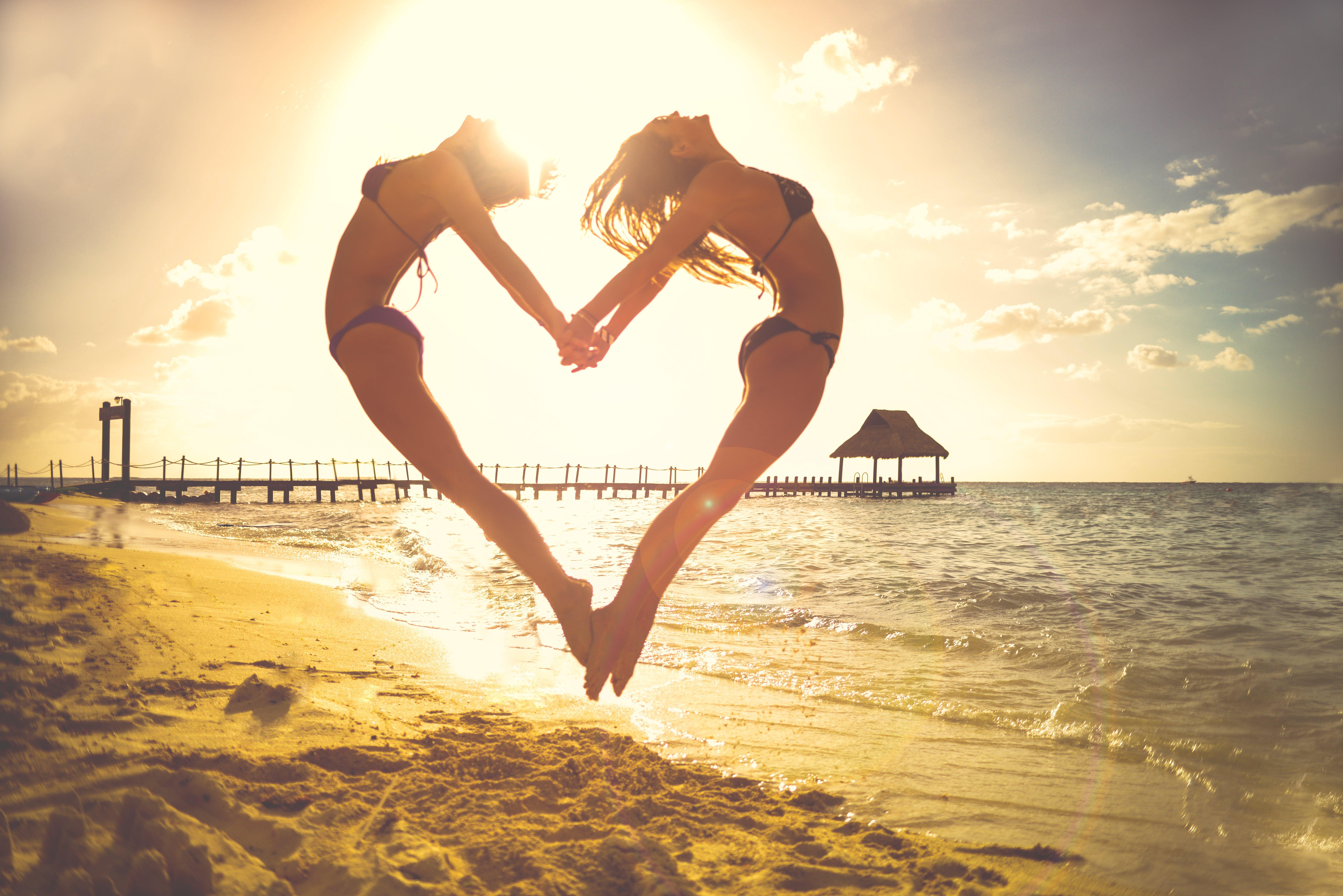 beach, beautiful, bikini