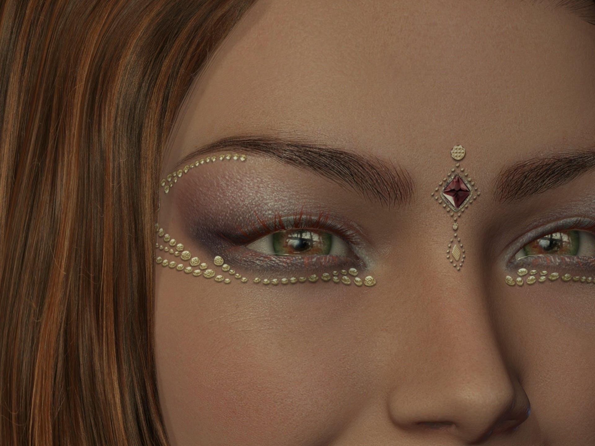 Kostenloses Stock Foto zu augen, augen makeup, dame, elegant