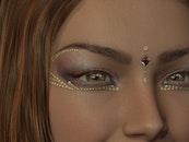 woman, eyes, model