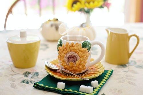 คลังภาพถ่ายฟรี ของ กาน้ำชา, การถ่ายภาพหุ่นนิ่ง, กาแฟ, ของบนโต๊ะอาหาร