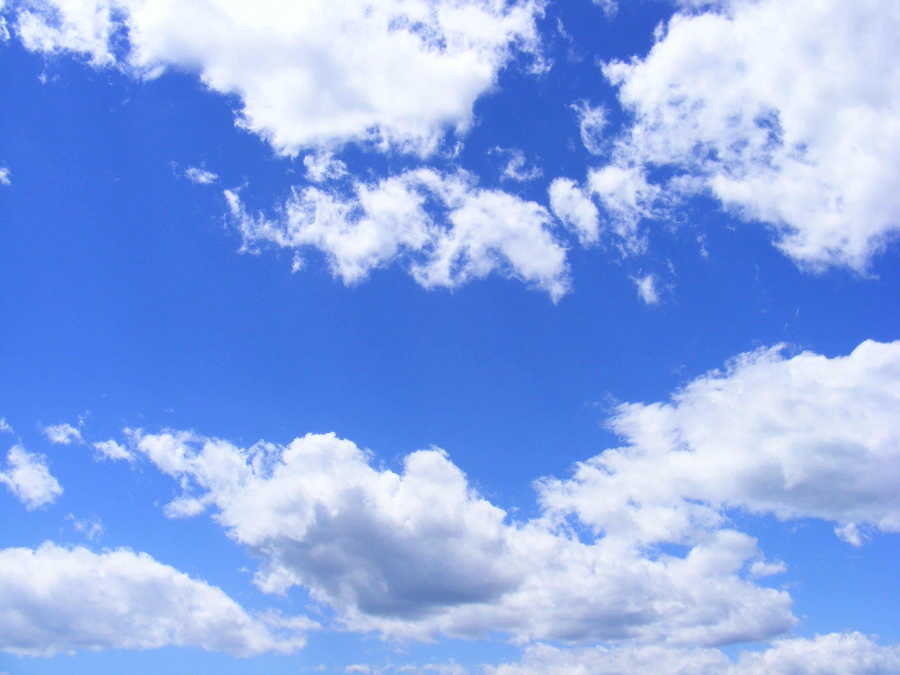 Foto stok gratis alam, awan, biru, gambar langit
