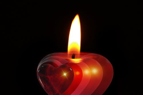Immagine gratuita di bruciare, candela, cuore, fiamma