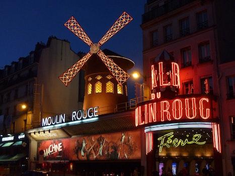 Moulin Rouge Neon Light Sign on Concrete Building