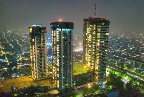 Бесплатное стоковое фото с башни, вечер, вид